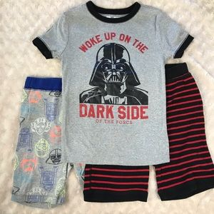 Gap Star Wars Pajamas Boy's Size 10 Red Black
